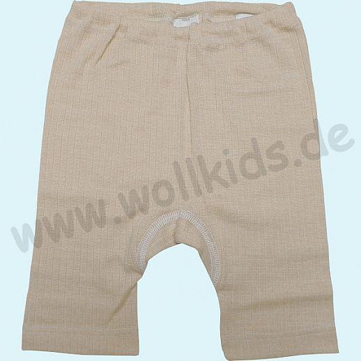 COSILANA Kinderbermuda - Seide Wolle BIO Baumwolle ORGANIC - natur
