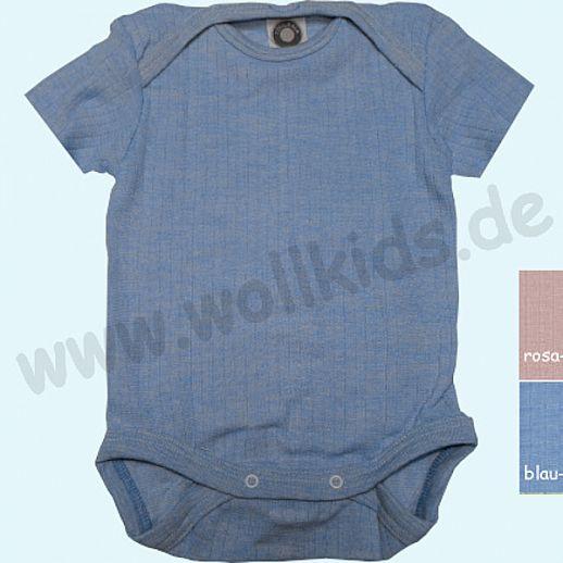 COSILANA: Body - Kurzarm - Seide - Wolle - Baumwolle ORGANIC rosa blau