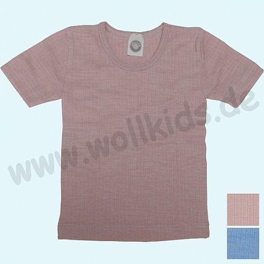 Cosilana Unterhemd Kurzarm Shirt - Seide Wolle-Baumwolle BIO