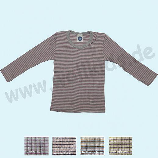 NEU: Cosilana Kinder-Unterhemd Seide Wolle Baumolle Organic Ringel