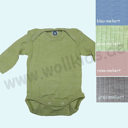 NEU: Cosilana Body - Langarm - Seide kbT Wolle - Baumwolle uni meliert