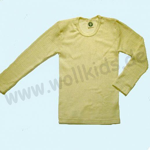 Cosilana Unterhemd Langarm Shirt - Seide Wolle-Baumwolle BIO natur