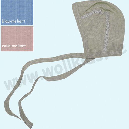 COSILANA: Baby-Häubchen - Mütze - Seide Wolle-Baumwolle, verschiedene Farben