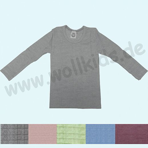 NEU: Cosilana Kinder-Unterhemd Seide Wolle Baumolle Organic meliert