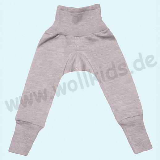 COSILANA Sondermodell: Baby-Hose Wolle Seide - grau melange BIO kbT Baby Leggin