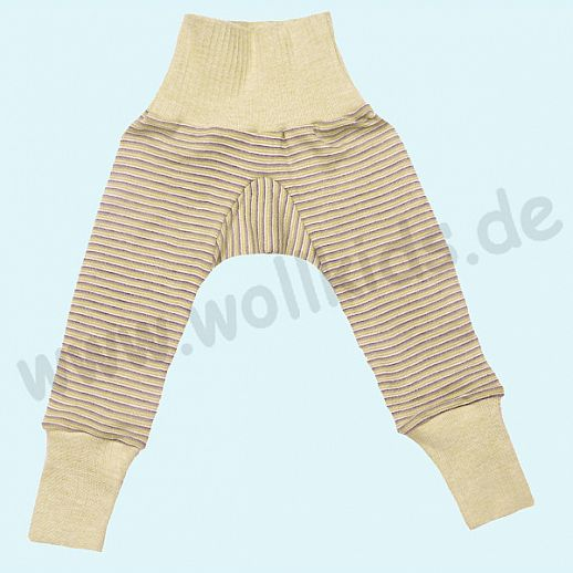 COSILANA Sondermodell: Baby-Hose Wolle Seide -  grün pfllaume natur BIO kbT Baby Leggin