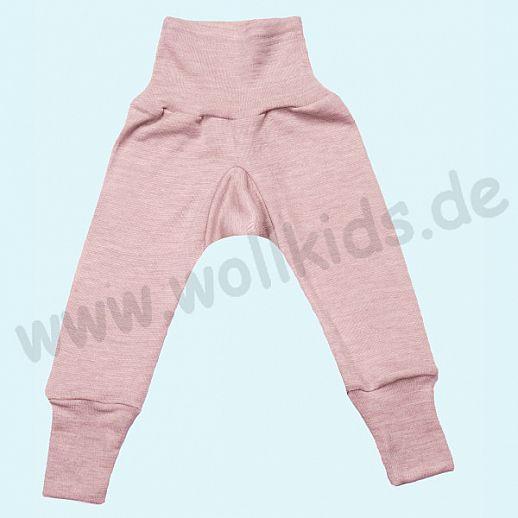 COSILANA Sondermodell: Baby-Hose Wolle Seide - rose melange BIO kbT Baby Leggin