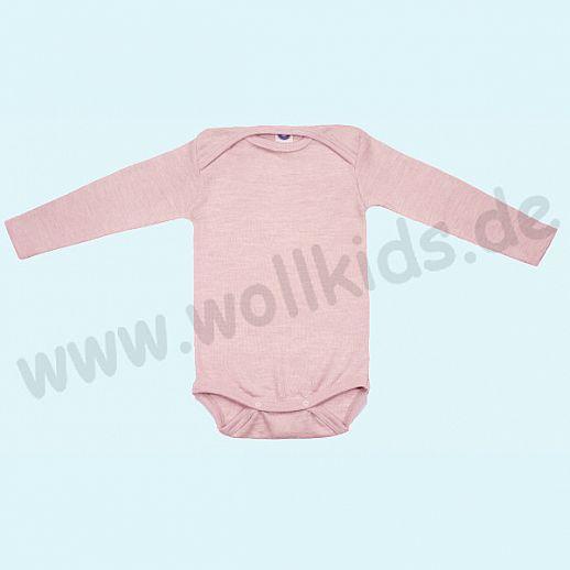 COSILANA Baby Body LA Wolle Seide SONDERMODELL Wäsche Babybody ORGANIC kbT rose-melange