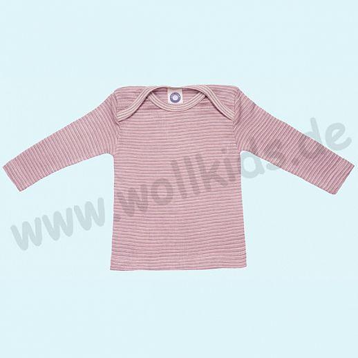 COSILANA Sondermodell: Baby-Schlupfhemd LA Wolle Seide rose grau natur ORGANIC