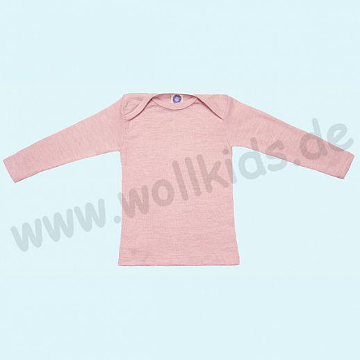 COSILANA Sondermodell: Baby-Schlupfhemd LA Wolle Seide rose melange ORGANIC