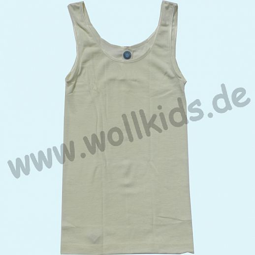 COSILANA: Damen Trägerhemd - Wolle Seide - natur BIO kbT Wolle - Hemd