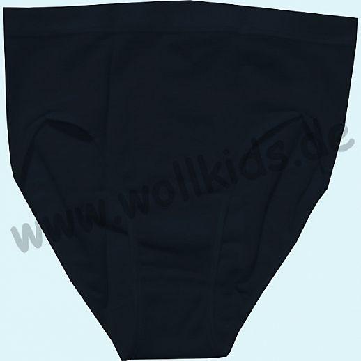 COSILANA: Slip für Damen - Wolle Seide - schwarz BIO kbT Schurwolle Unterhose