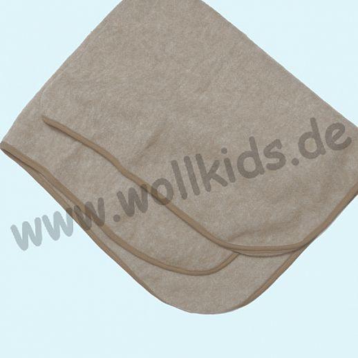 COSILANA: Schurwolle Wollfleece - Decke - 80x100cm - 9 Farben kbT BIO