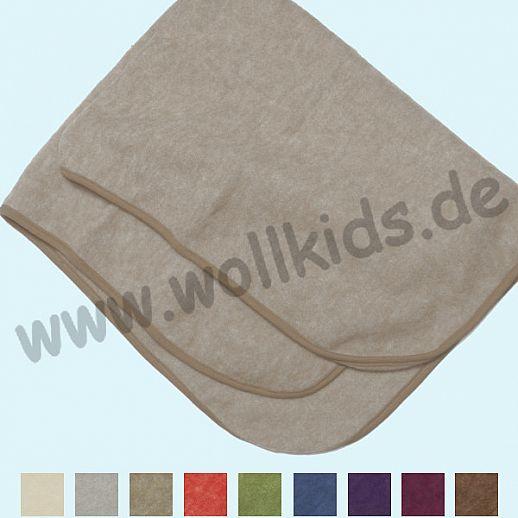 NEU: COSILANA: Schurwolle Bio-Baumwolle Wollfleece - Decke - 80x100cm