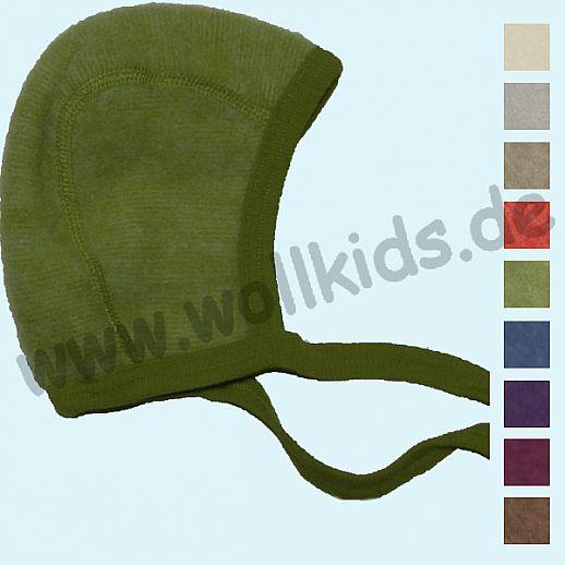NEU: COSILANA Baby-Häubchen - Mütze - Wollfleece - viele Farben - kuschelige Fleece BIO Schurwolle