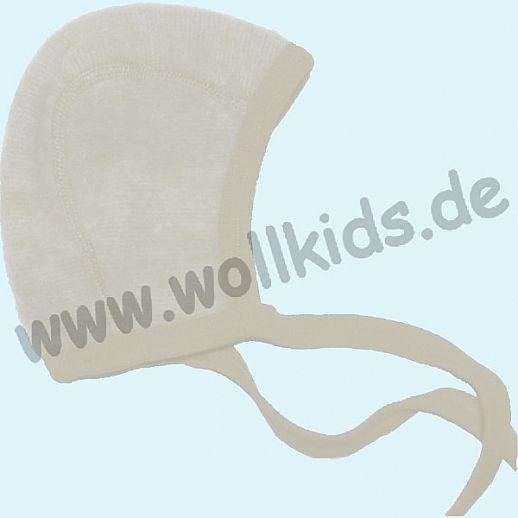 COSILANA Baby-Häubchen - Mütze - Wollfleece - 9 Farben - kuschelige Fleece BIO Schurwolle