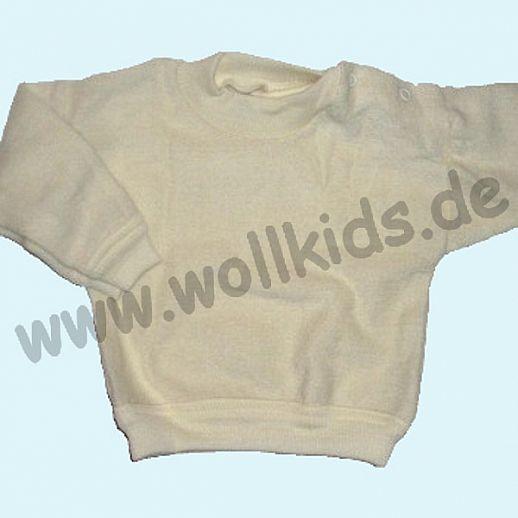 COSILANA Wollfrottee Pullover Schulterverschluß, natur kbT Schurwolle BIO