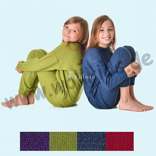 COSILANA: Wollfrottee Schlafanzug, 2 teilig, kbT Schurwolle COSILANA