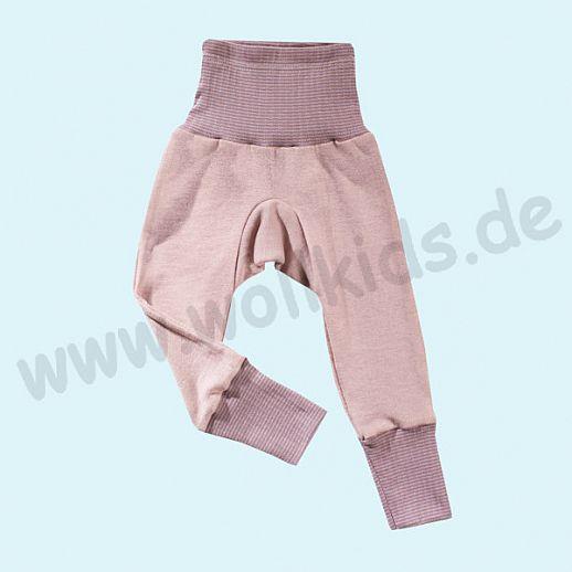 COSILANA Baby-Hose Wolle Seide - SONDERMODELL Babyhose BIO kbT Organic rose-grau