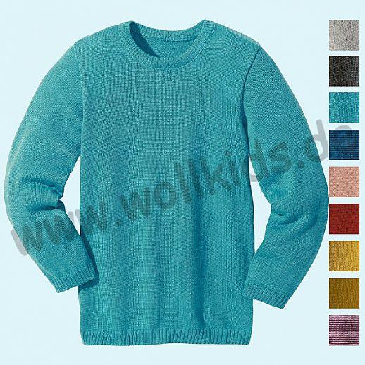 DISANA - Pullover - NEUE FARBEN - Kinder Strickpullover Pullover Pulli uni - Merino Wolle