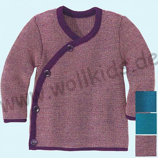 SALE: DISANA - Melange - Jacke - 100% Merino Wolle GOTS Babyjacke