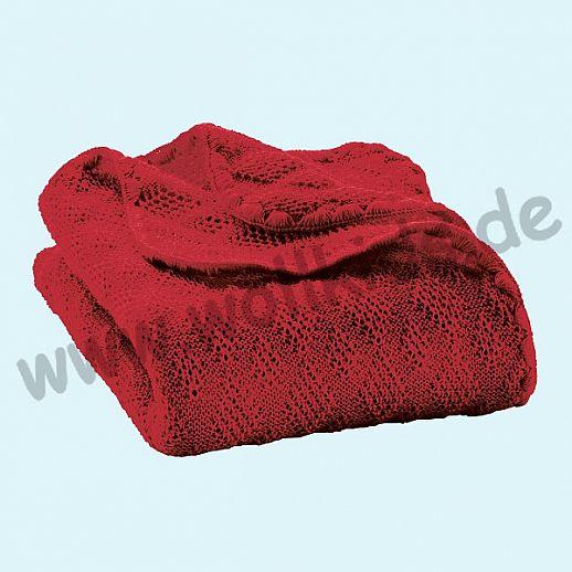 SALE: DISANA Strick-Decke Wolldecke kbT Schurwolle Babydecke BIO im Geschenkkarton