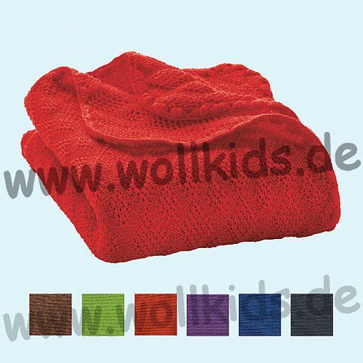 DISANA Strick-Decke Wolldecke kbT Schurwolle in NEUE Farben BIO