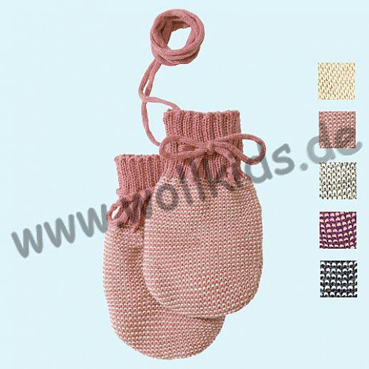 NEUE Farbe: Rose-natur Disana Strick - Handschuhe - weiche kbT Merino-Wolle für die Kleinsten