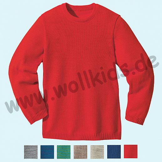SALE: DISANA - Pullover - Kinder Strickpullover Pullover Pulli - 100% kbT-Schurwolle