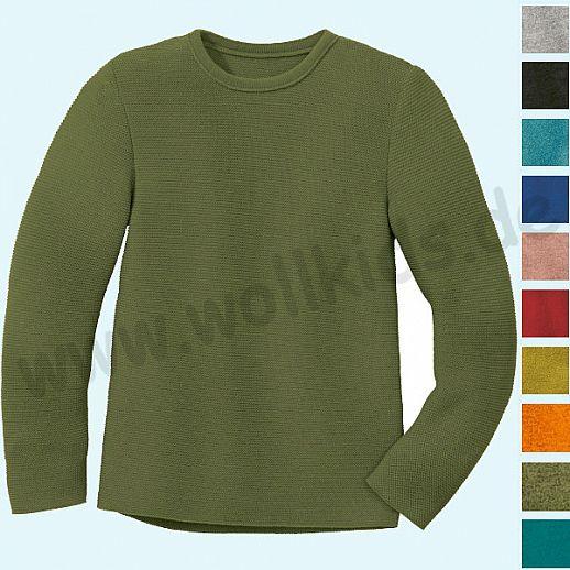 NEU: dicker und wärmer DISANA - Pullover - Kinder LINKS Strickpullover Pullover Pulli uni - Merino Wolle