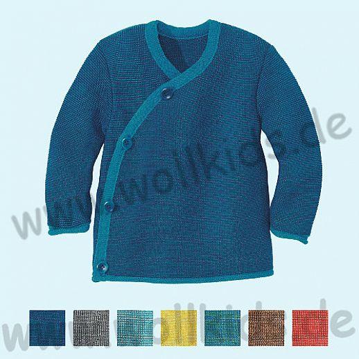 SALE: DISANA - Melange - Jacke- 100% kbT-Schurwolle GOTS Babyjacke