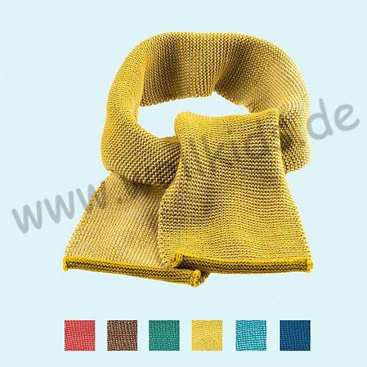 SALE: Disana Strick - Schal - weiche kbT Merino-Wolle im Melange-Strick