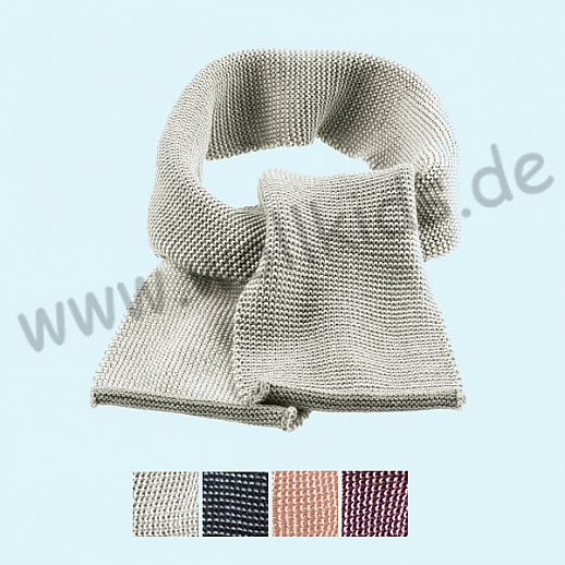 NEUE FARBEN: Disana Strick - Schal - weiche kbT Merino-Wolle im Melange-Strick