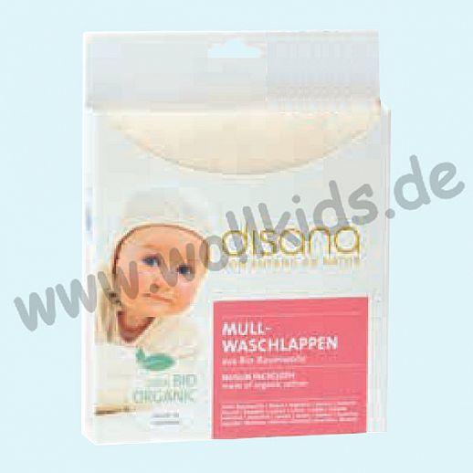 Disana Mullwaschlappen - kbA Baumwolle - saugstark und sanft zur Haut - 25cm x 25cm