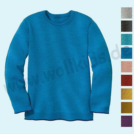 NEU: DISANA - Pullover - Kinder Strickpullover Pullover Pulli uni - Merino Wolle