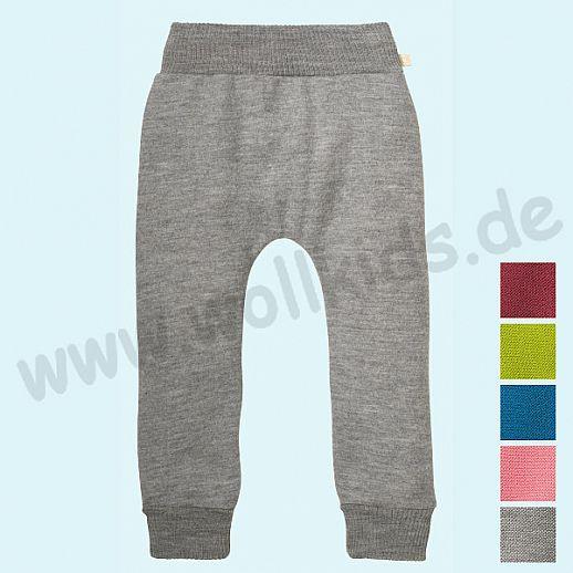 "Made in Germany Lilakind/"" Baby Kinder Hose Babyhose Kinderhose Pumphose Wollwalk Graumeliert Petrol Fuchsia Caramel Gr 50//56-134//140"