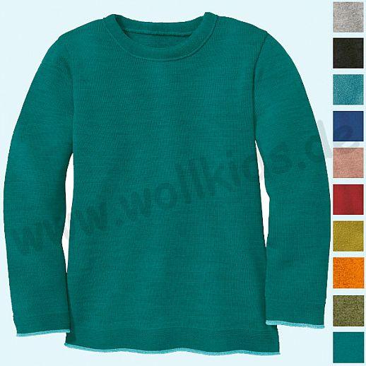 NEUE FARBEN: DISANA - Pullover - Kinder Strickpullover Pullover Pulli uni - Merino Wolle