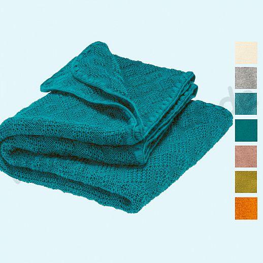 NEUE Farben: DISANA Strick-Decke Wolldecke kbT Schurwolle Babydecke BIO im Geschenkkarton