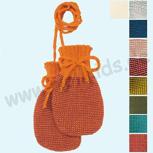 NEUE FARBEN: DISANA Strick - Handschuhe - weiche kbT Merino-Wolle für die Kleinsten