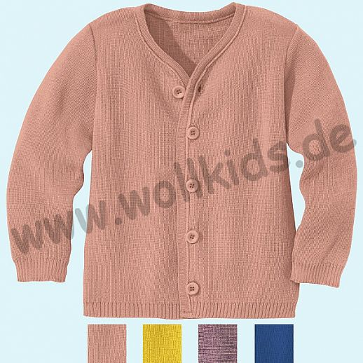 NEU: DISANA - Kinder Strickjacke Jacke - 100% kbT-Schurwolle - neu auch in rose