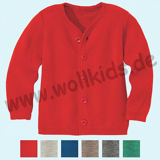 SALE: DISANA - Kinder Strickjacke Jacke - 100% kbT-Schurwolle