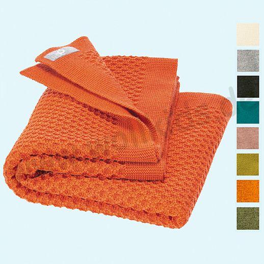 NEUE Farben: DISANA Wabenstrickdecke Wolldecke kbT Schurwolle Babydecke BIO im Geschenkkarton