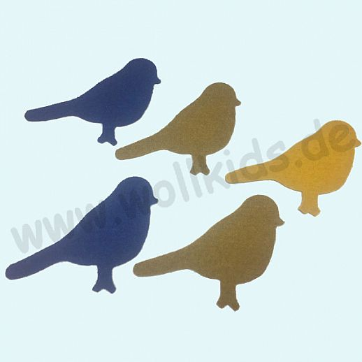 Disana Walk Applikation aus Original Disana Walk - zur Deko oder Reparatur - Vogel klein
