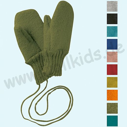 NEUE FARBEN: DISANA Walkhandschuhe Handschuhe GOTS BIO Schurwolle