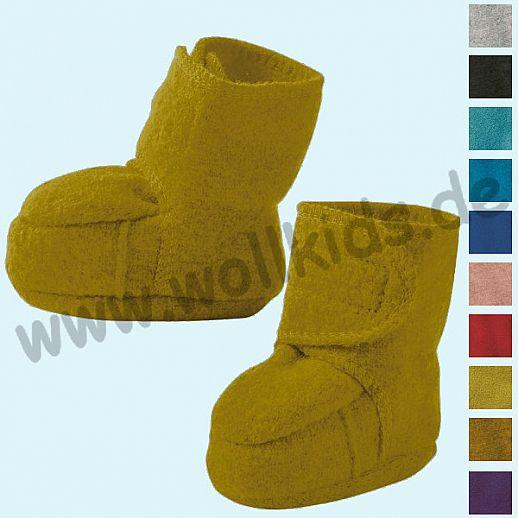 DISANA: Walkpuschen Walkschuhe Klett Schuhe GOTS Schurwolle- neue Farben