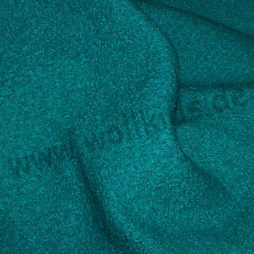 Walkstoff - 100% Schurwolle - dunkelpetrol - etwas fester gewalkt - aus Italien