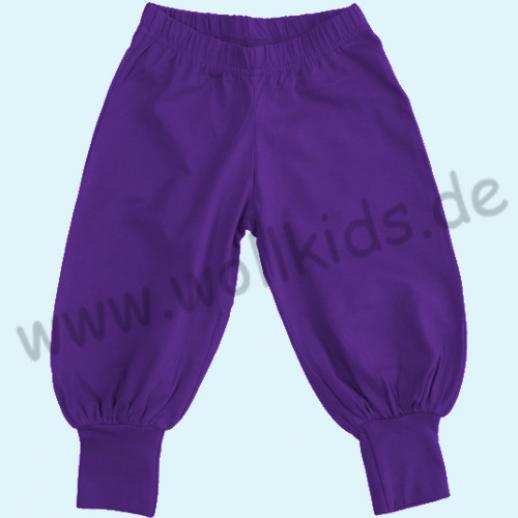 SALE: DUNS BIO-Baumwolle GOTS - Baggy pants - Hose mit Beinbündchen lila
