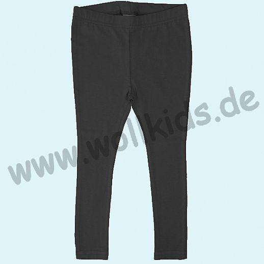 DUNS: BIO-Baumwolle GOTS - Leggin - Hose - black schwarz- GOTS ORGANIC