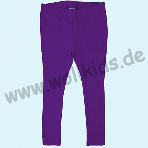 DUNS: BIO-Baumwolle GOTS - Leggin - Hose - lila  purple - GOTS ORGANIC