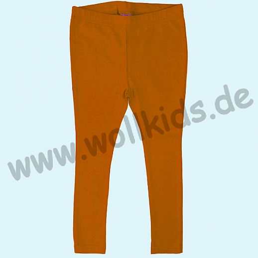 DUNS: BIO-Baumwolle GOTS - Leggin - Hose - orange - GOTS ORGANIC